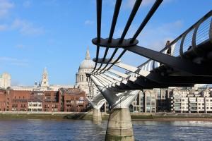 Millenium Bridge St Pauls London