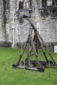 Trebuchet in moat of Tower of London