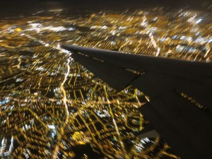 View of London from Plane